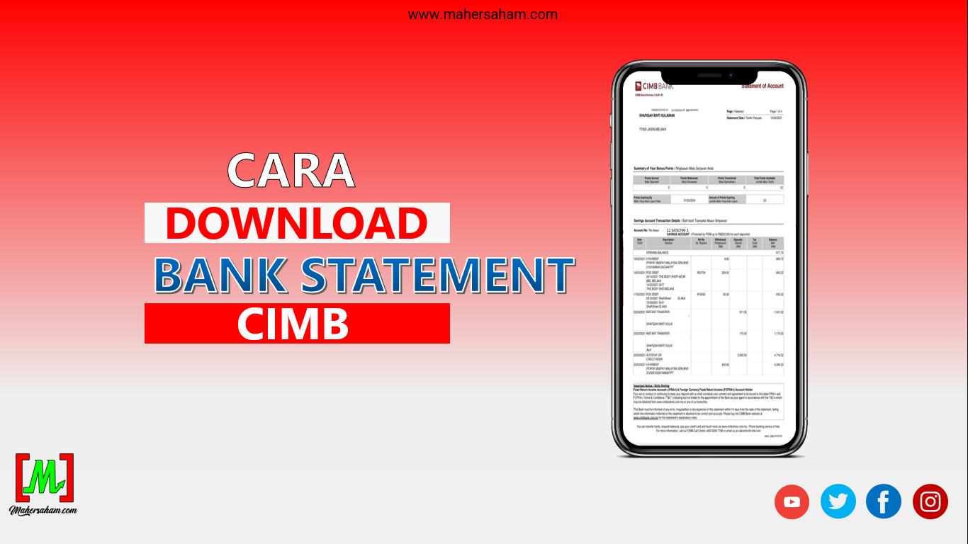 Cara Download Bank Statement Maybank
